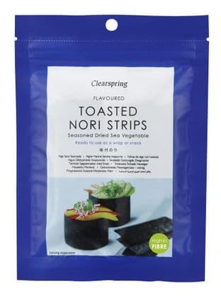 Clearspring Nori Sea Vegetable Flavoured Strips 13.5g